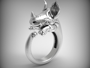 Happy Rhino ring size 6.5 in Natural Silver