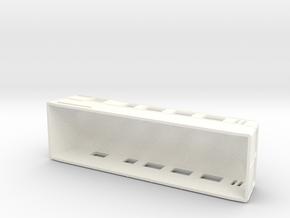 Swedish wagon for railcar UCFo4s H0-scale in White Processed Versatile Plastic