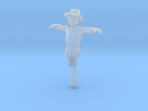 HO Scale Scarecrow in Smooth Fine Detail Plastic