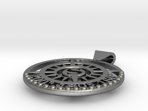 Nautical South Compass Pendant in Polished Silver