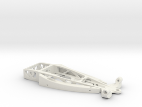 """""""34 Hot Rod"""" - 1/24 slot car chassis in White Natural Versatile Plastic"""