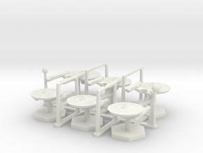 7000 Scale Federation Fleet Builder Collection WEM in White Natural Versatile Plastic