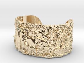 Elephants Bangle Bracelet in 14k Gold Plated Brass