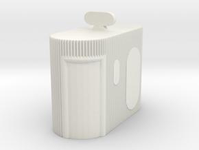 Street Toilet 1/48 in White Natural Versatile Plastic