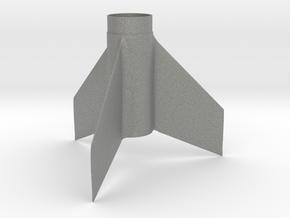 Custom Fin Unit- 3 fins Swept Taper in Gray PA12