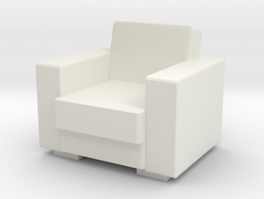 Vintage Armchair 1/48 in White Natural Versatile Plastic