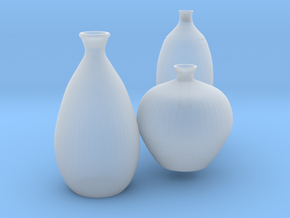 Modern Miniature 1:24 Vase Set in Smooth Fine Detail Plastic: 1:24