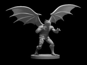 Dragonborn male Monk 2 with wings in Smooth Fine Detail Plastic