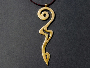 Devil's Tail Swoosh in 18K Gold Plated