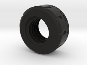 Delta 15 drill press depth stop nut (lower) in Black Natural Versatile Plastic