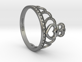Princess Tiara Ring in Natural Silver: 6 / 51.5
