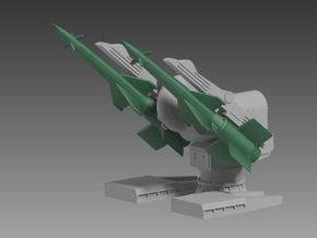 GOA launcher and SA-N-1 Missiles 1/96 in Smooth Fine Detail Plastic