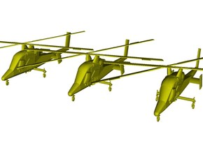 1/200 scale Kaman K-1200 K-MAX helicopters x 3 in Smooth Fine Detail Plastic