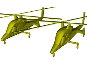 1/200 scale Kaman K-1200 K-MAX helicopters x 2 in Smooth Fine Detail Plastic