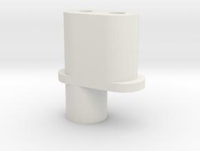 Team Associated 6338 - RC10 Antenna Holder in White Natural Versatile Plastic