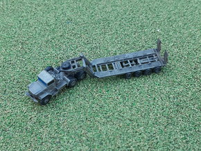 M123 Tractor w. M747 Tanktransporter 1/285 in Smooth Fine Detail Plastic