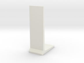 Retaining Concrete Wall 1/76 in White Natural Versatile Plastic