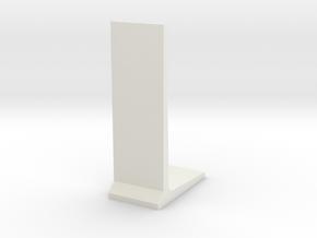 Retaining Concrete Wall 1/64 in White Natural Versatile Plastic