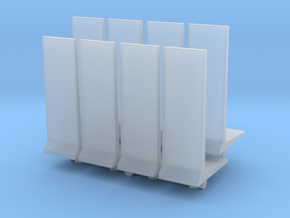 Retaining Concrete Wall (x8) 1/220 in Smooth Fine Detail Plastic