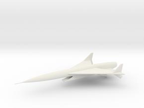 F-302A Scimitar Ramjet Interceptor in White Natural Versatile Plastic: 1:250