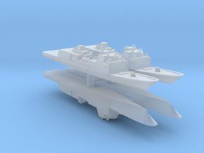 Fincantieri FFG(X) Wargaming x4 in Smooth Fine Detail Plastic: 1:2400