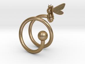 Honeybee Ring in Polished Gold Steel
