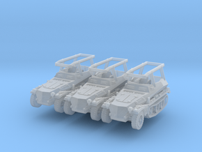 Sdkfz 250/3 A Greif (x3) 1/200 in Smooth Fine Detail Plastic