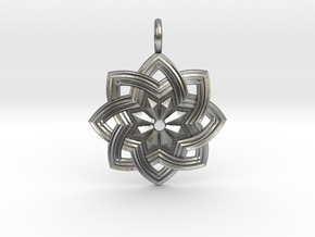 Star Flower in Natural Silver