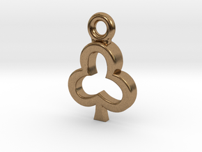 Club Charm / Pendant / Trinket in Natural Brass