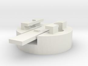 Garmin Edge 705 mount disk in White Natural Versatile Plastic