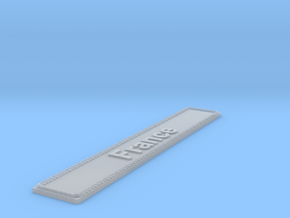 Nameplate France in Smoothest Fine Detail Plastic