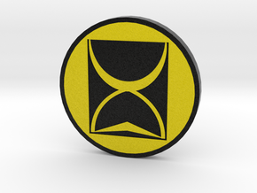 Time Tunnel Authentication Badge in Natural Full Color Sandstone