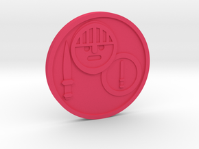 Knight of Wands Coin in Pink Processed Versatile Plastic