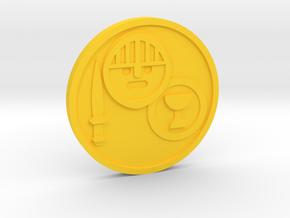 Knight of Cups Coin in Yellow Processed Versatile Plastic