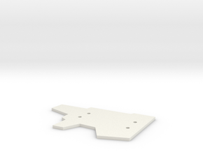 Mounting Plate in White Natural Versatile Plastic