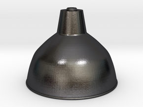 Industrial lampshade in 1:12 in Polished and Bronzed Black Steel