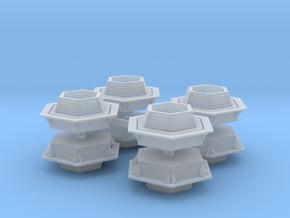 Hexagonal Bench (x8) 1/200 in Smooth Fine Detail Plastic