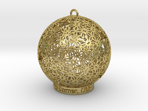 Creator Ornament in Natural Brass