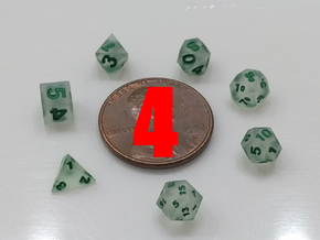 4x Super Tiny Polyhedral Dice Set, V3 in Smoothest Fine Detail Plastic