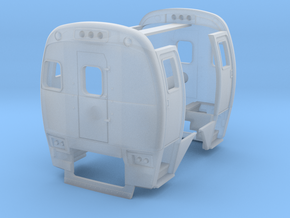 HO Budd SPV 2000 Ends Standard and Prototype in Smooth Fine Detail Plastic