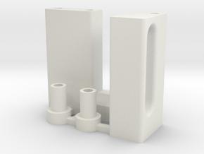 Custom belt tensioner (+3 mm) for Welshy40 in White Natural Versatile Plastic
