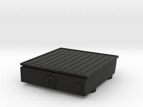 Kitchen Keychain Mini Grill in Black Natural Versatile Plastic