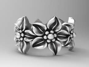Flower ring size 8.5 in Natural Silver