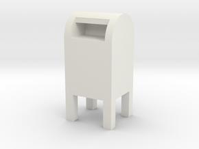USPS Mailbox 1/48 in White Natural Versatile Plastic