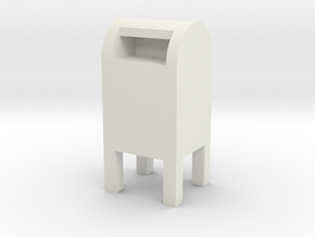 USPS Mailbox 1/43 in White Natural Versatile Plastic