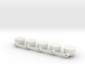 Round KC light bar for Smitty, Triple Double roll- in White Natural Versatile Plastic