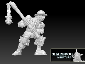 Character Series: Flail Soldier in White Natural Versatile Plastic