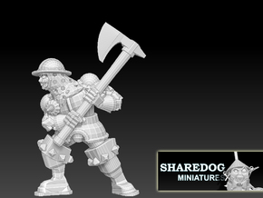 Character Series: Axe Soldier in White Natural Versatile Plastic