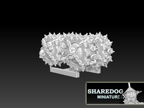Wheel 4-Pack Chaos Edition: 3x1,3 cm size.  in White Natural Versatile Plastic