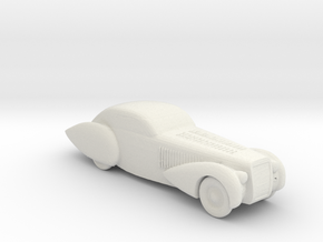 BG Antique car v1 1:160 scale in White Natural Versatile Plastic